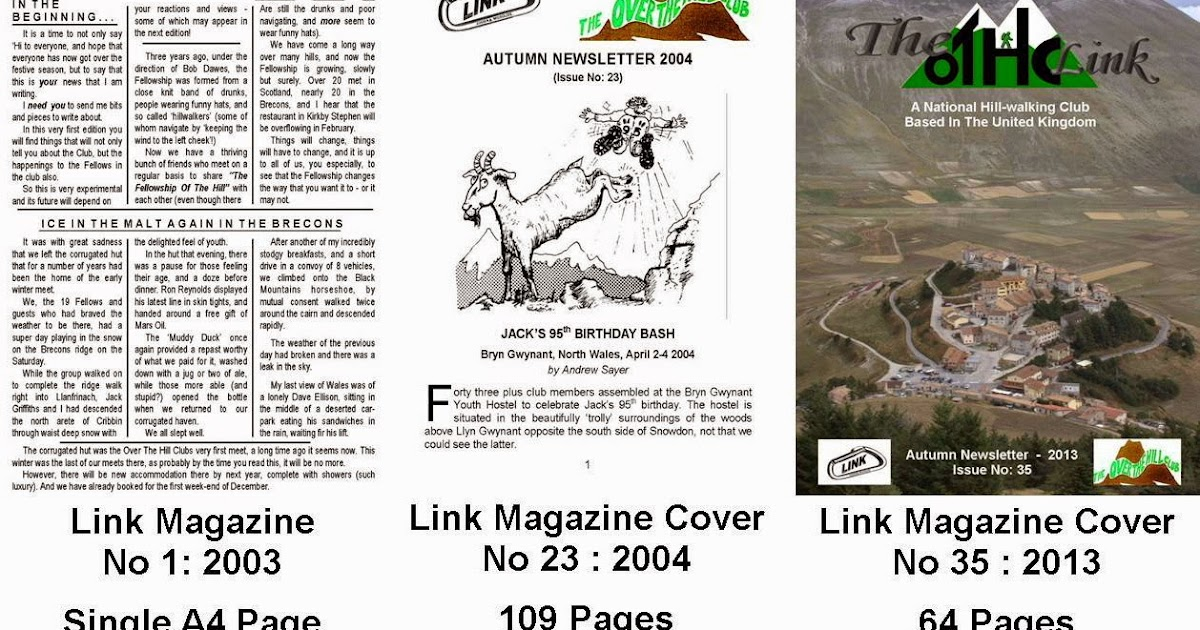 Hill And Mountain Walking Club: Link Magazines and Awards