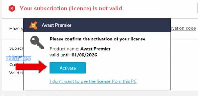 Download Dan Cara Aktivasi  Antivirus Avast Gratis full version 2018 Terbaru