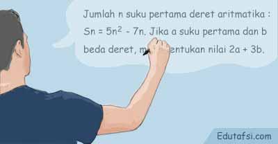 Menentukan beda dereta aritmatika jika Sn diketahui