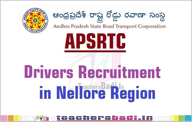 APSRTC,Drivers Recruitment,Nellore Region