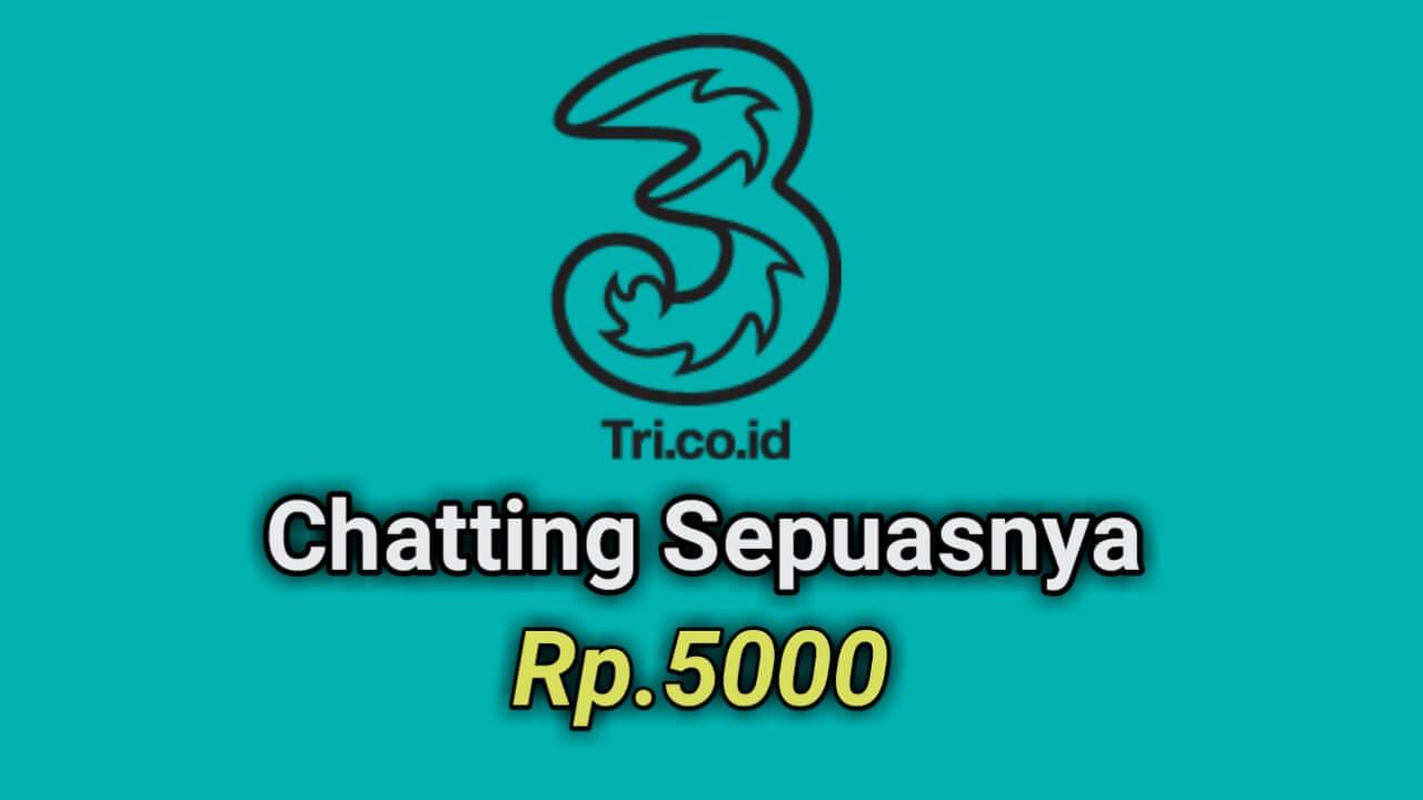 Membeli paket Chatting 3 seharga 5000 melalui aplikasi Bima +