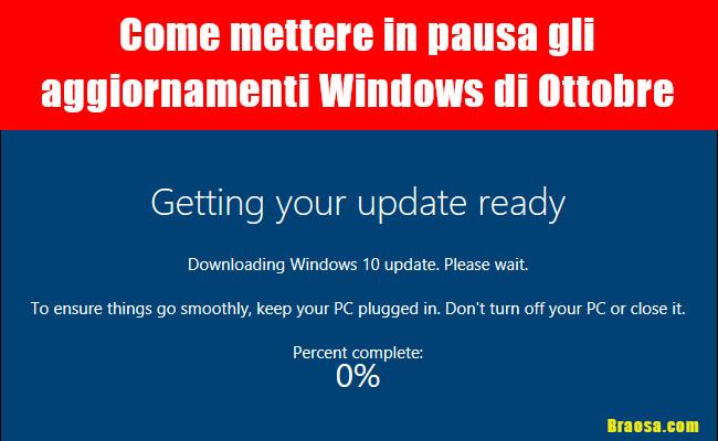 Come bloccare gli aggiornamenti Windows di Ottobre