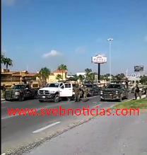 Balacera esta madrugada en carretera a Río Bravo con San Fernando en Tamaulipas