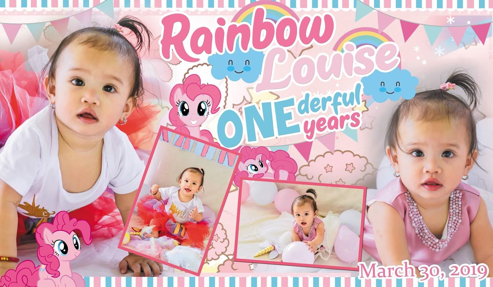 my little pony rainbow tarpaulin