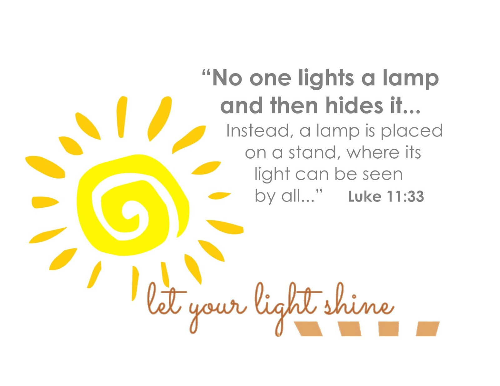 PlayFull: Thursday Thought:: Let Your Light Shine