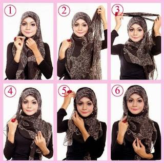 Tutorial hijab segi empat untuk sekolah
