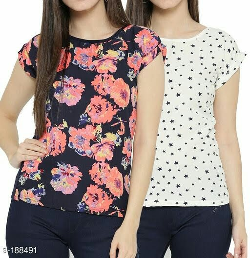 Trendy Polyester Printed Women's Top