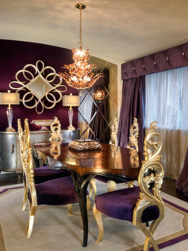 Opulent Traditional Style Formal Dining Room Furniture Set: GIY: Goth It Yourself: March Theme Post: Purple
