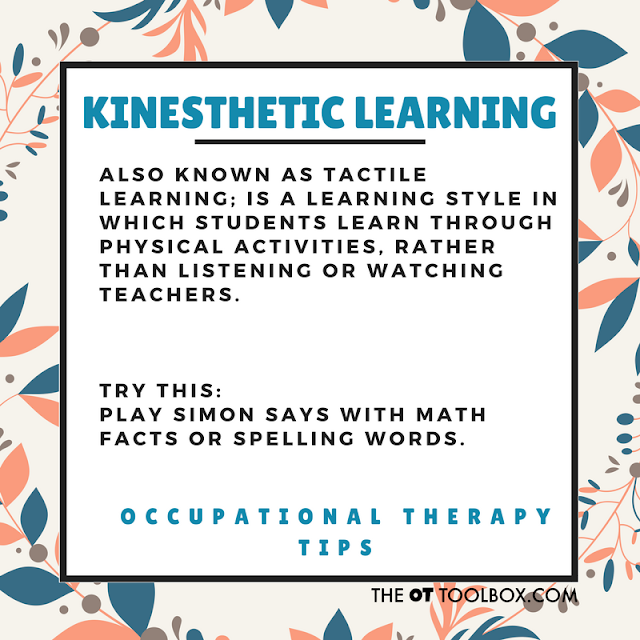 Kinesthetic learning activities