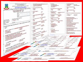 Contoh Soal UKK/UAS Kelas 1, 2, 3, 4, 5, 6 Lengkap