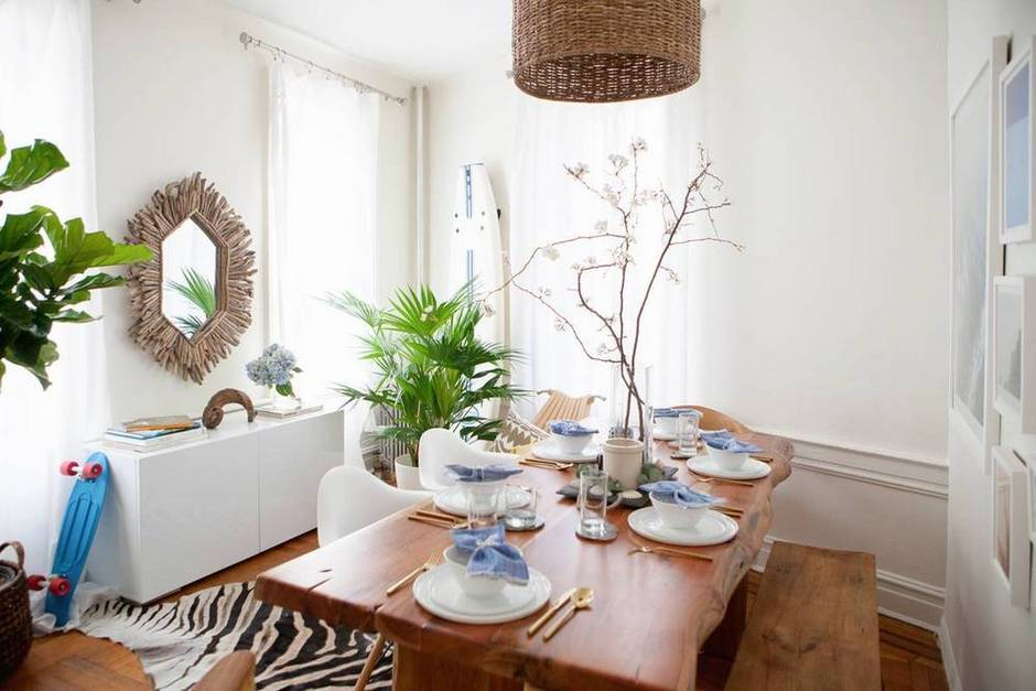 vintage bohemian global dining room interior design inspiration
