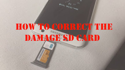 How to correct your damaged SD card