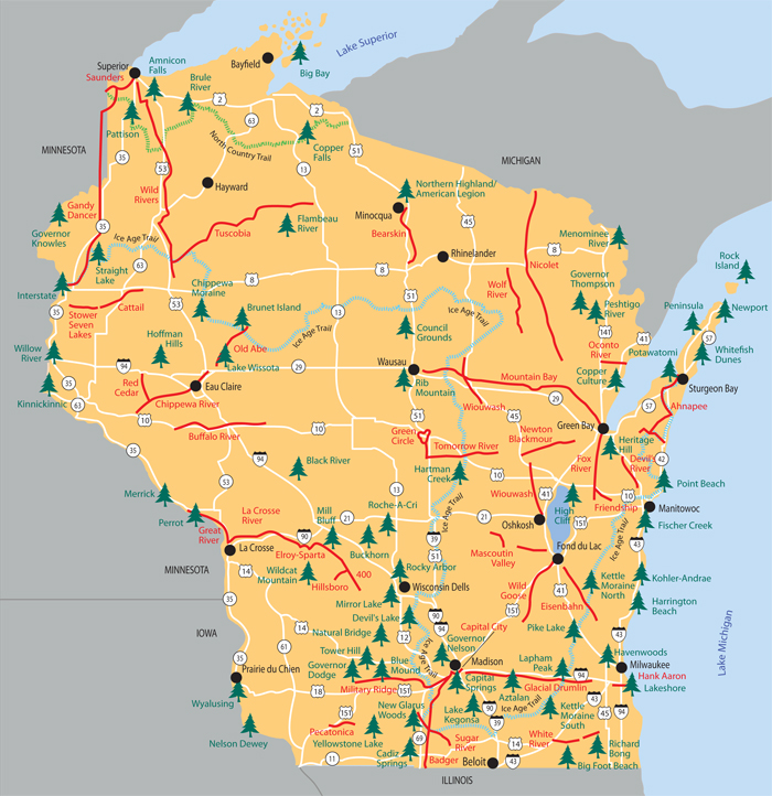 Wisconsin State Parks Map Friends of Wisconsin State Parks (Groups) ~ Friends of Wisconsin  Wisconsin State Parks Map