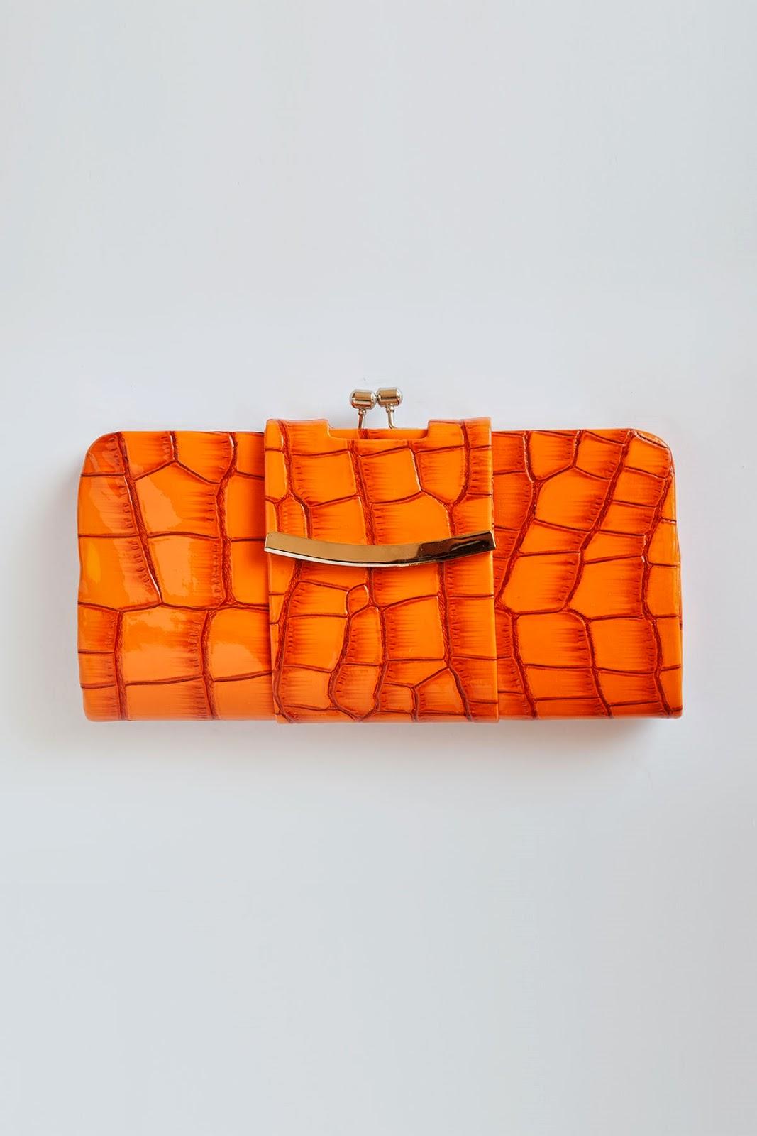 76fc17f44545 Cecilia Orange Clutch Coco s Skull Bag Buy Handbags Online Australia