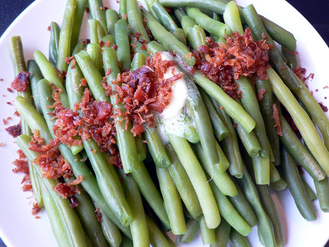 Green Beans with Butter and Bacon recipe