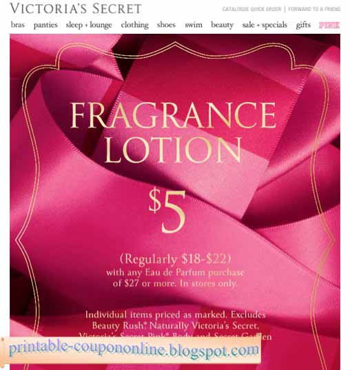 Victoria secret online coupon codes