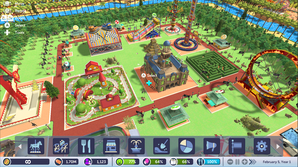 Review: RollerCoaster Tycoon: Adventures (Nintendo Switch