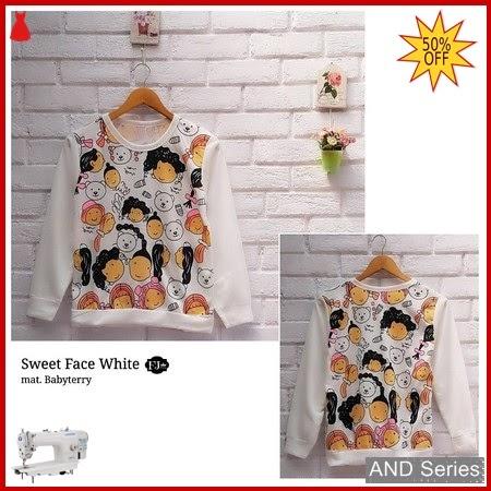AND347 Baju Atasan Wanita Kaos Sweet Face BMGShop