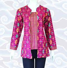 Busana Batik Wanita Kantor Elegan