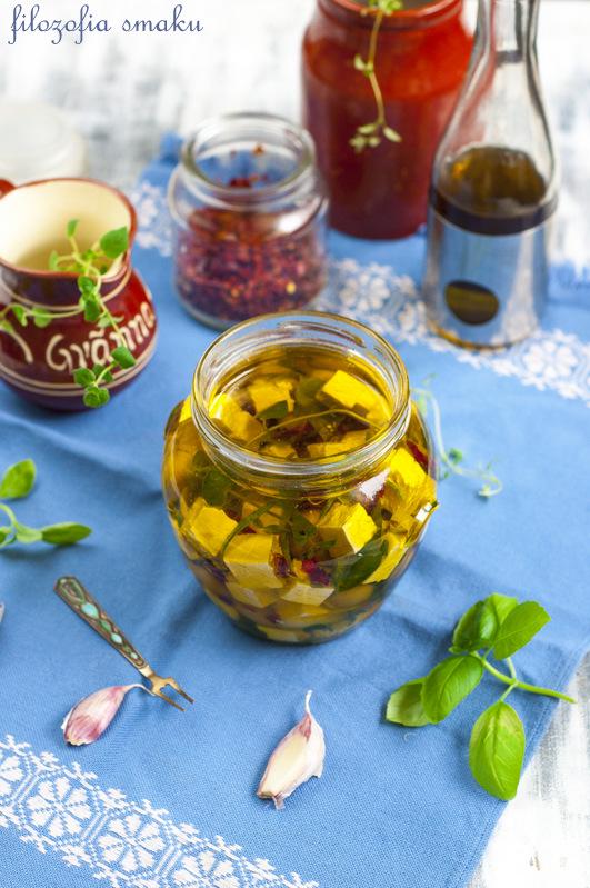Feta marynowana w oliwie