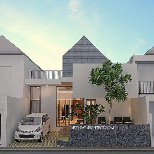 Desain rumah dua alternatif tampak
