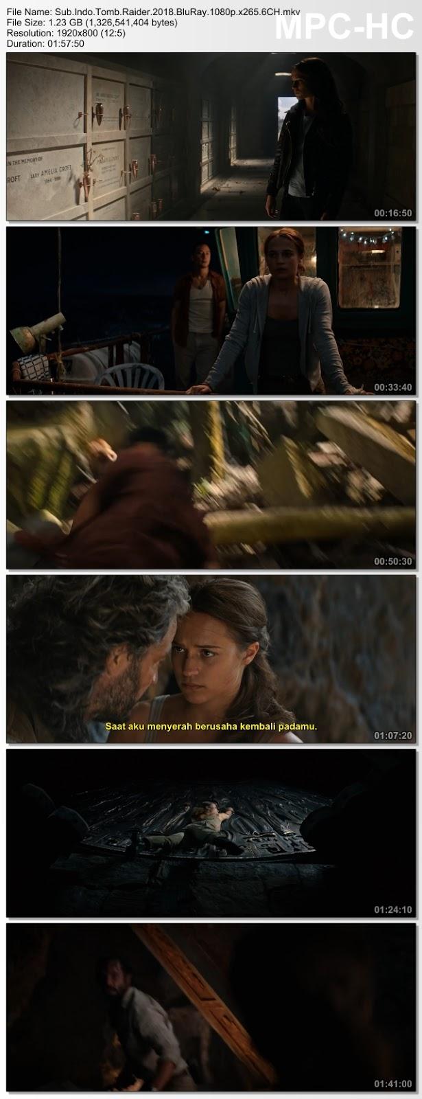 Screenshots Download Film Gratis Tomb Raider (2018) BluRay 480p MP4 Subtitle Bahasa Indonesia 3GP