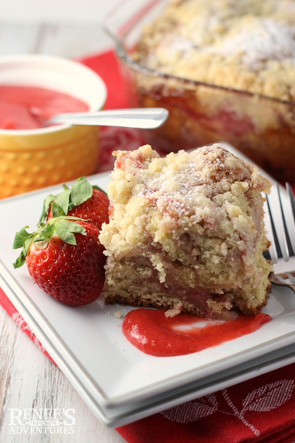 Strawberry Swirl Coffee Cake | Renee's Kitchen Adventures