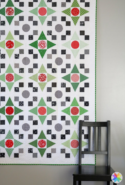 Game Night quilt - a fat quarter Christmas quilt by Andy of A Bright Corner  - quilt pattern from the Fresh Fat Quarter Quilts book