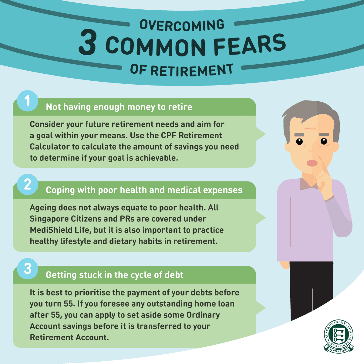 3 common fears of retirement