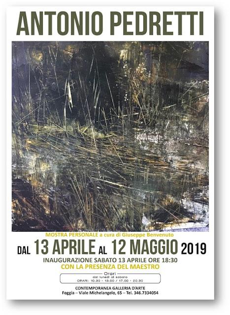 Foggia nell'arte. Personale di Antonio Pedretti alla Contemporanea Galleria d'Arte