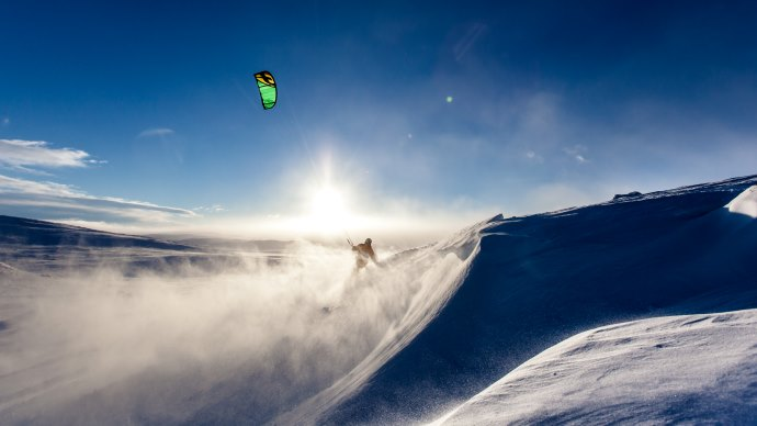 Wallpaper: New type of Skiing