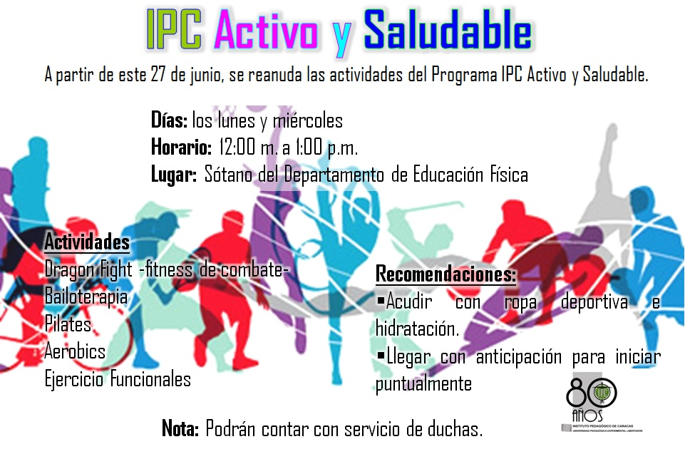 Noticias UPEL Caracas: IPC Activo y Saludable