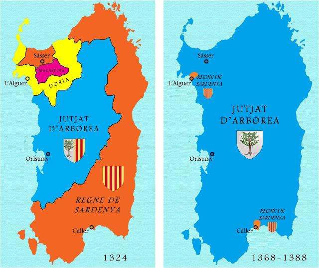 Mapa guerra de Sardenya