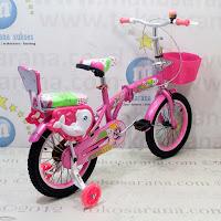 Sepeda Lipat Anak Kouan 1601 Hexagon 16 Inci- Pink