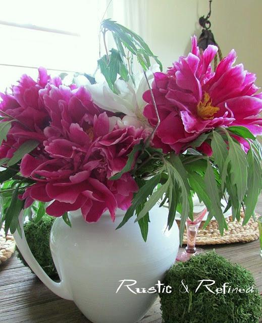 Peony Floral Centerpiece