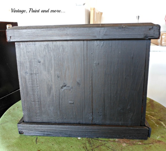 Stenciled Wooden Planter Vintage Paint And More
