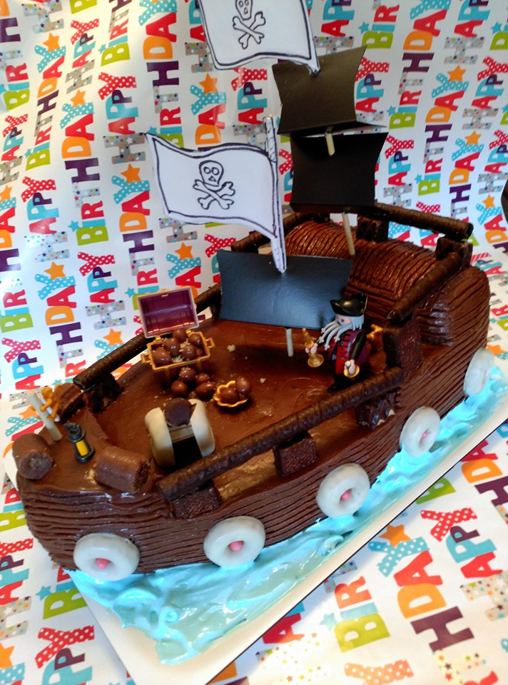 marronglacè: Tarta barco pirata