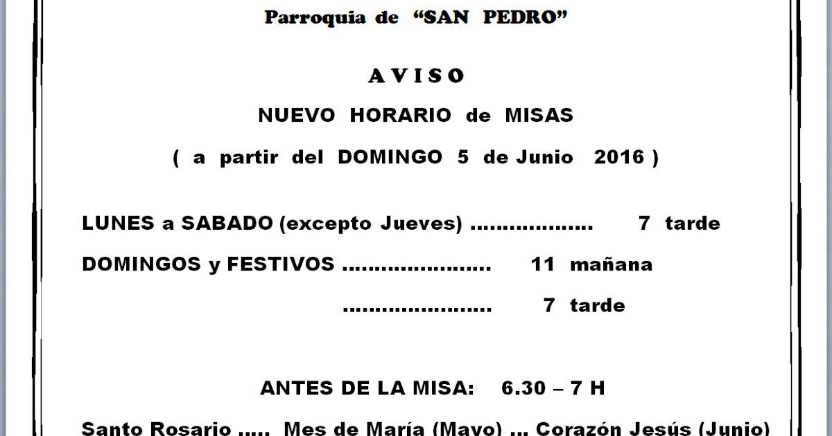 horario misa jerez frontera:
