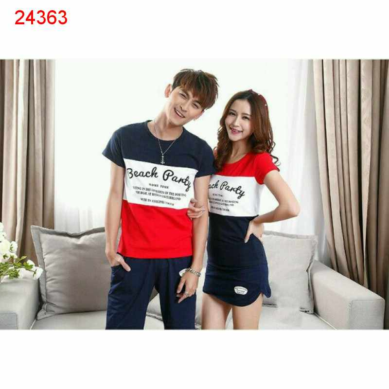 Jual Baju Couple PD Beach Party - 24363