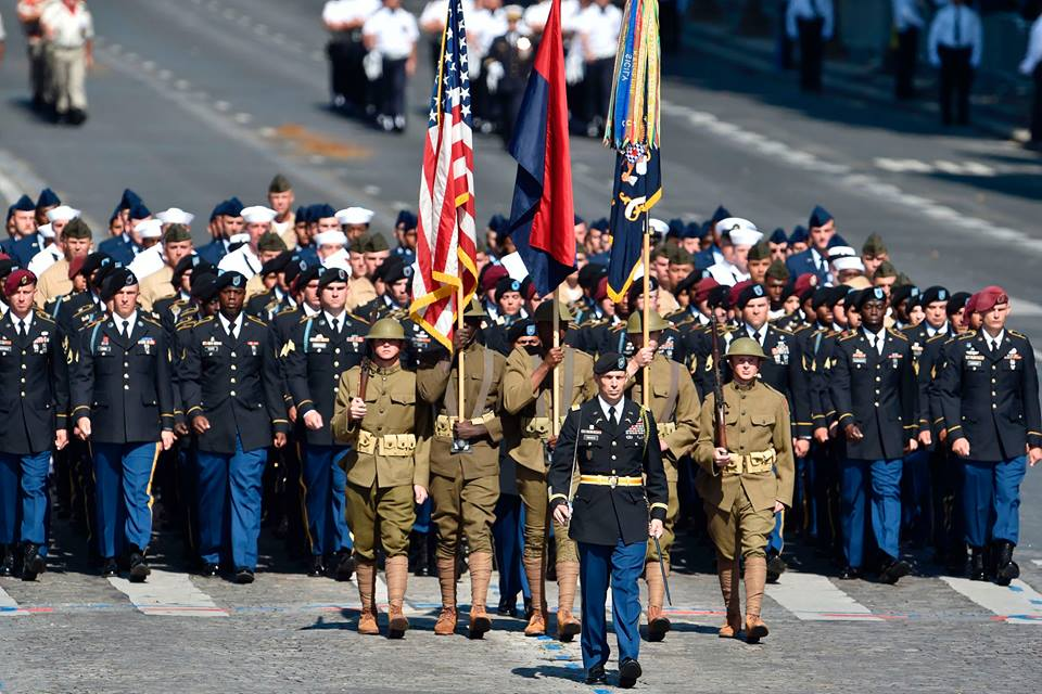 US troops lead Bastille Day parade in Paris