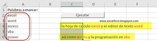 VBA: Objeto Dictionary - Resaltar Palabras elegidas dentro de un Rango.