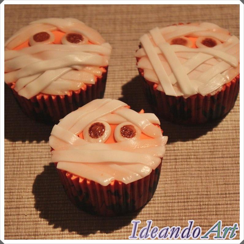 Cupcakes momias Halloween
