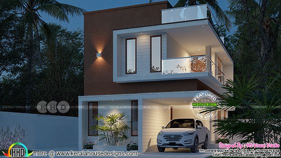 1594 sq-ft 3 bedroom small double storied house
