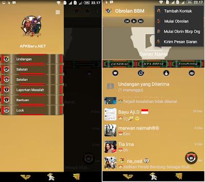 screenshot BBM MOD Tema Clash of Clans (COC) v.2.12.0.9 Apk Terbaru