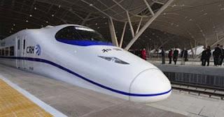 """الصين تنجح فى تصنيع قطار تجريبى جديد فائق السرعة """"السيف الصينى"""" تم تصنيعه بمؤسسة """"سى.إس.آر"""" الصينية"""