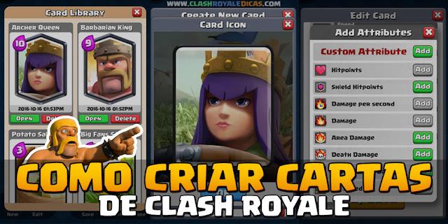 Como criar suas próprias cartas no Clash Royale - 1