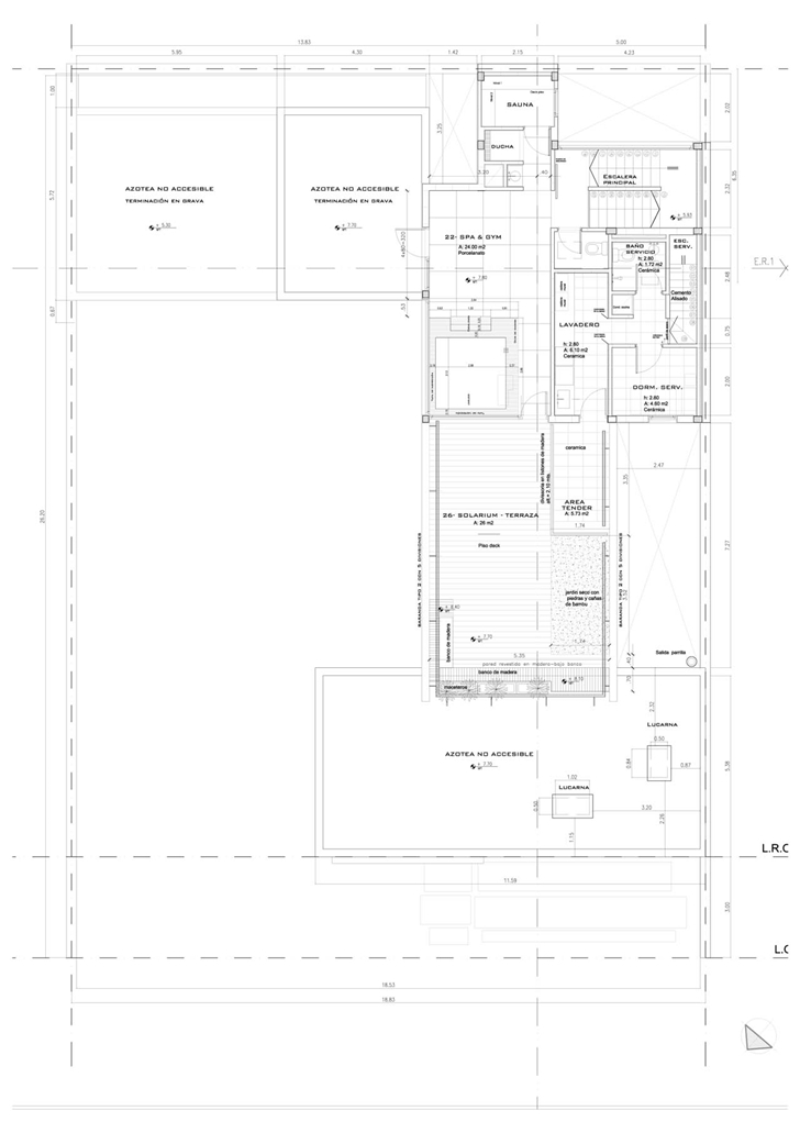 Floor plan of Modern Villa Devoto by Andres Remy Architects