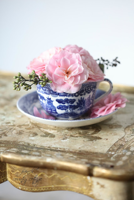 French Country Fridays- Blue & White Love