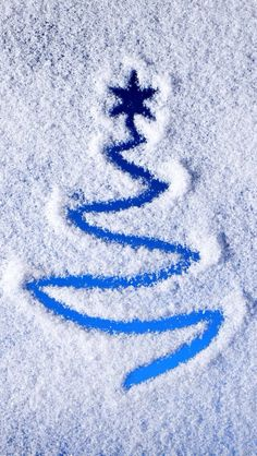 Merry xmas snow christmas tree wallpaper