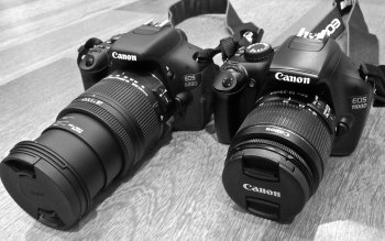 Wallpaper: Canon 600D and Canon 1100D
